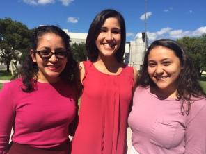 A photo of Vivian Bermudez, Ms. Borges, and Maria Vazquez.