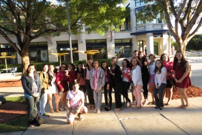 The start of Journalism began with a group photo amongst the journalism students of MLEC.