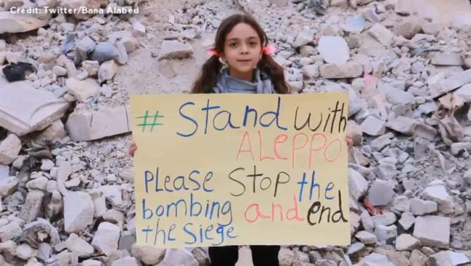 Seven Year-Old Bana Alabed Uses Twitter to Share the Reality of Living in Aleppo