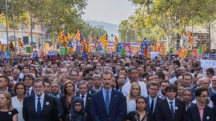 'I'm Not Afraid.' 500,000 Barcelona Peace Marchers Take the Streets of Spain